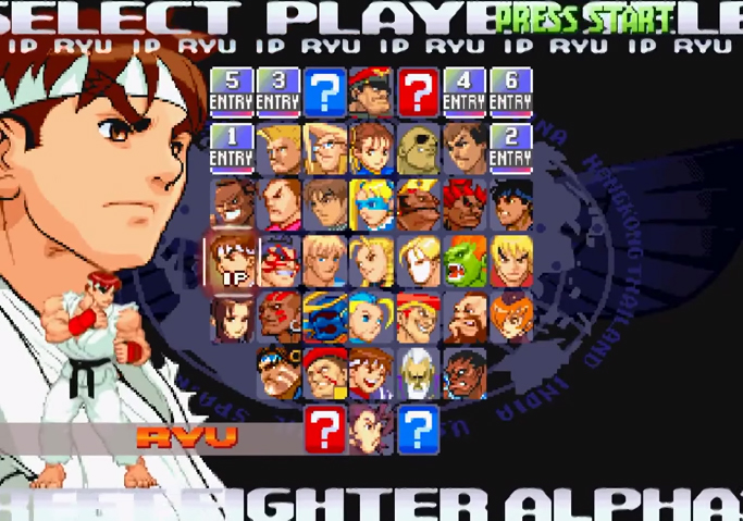 Street Fighter Alpha 3 - Character Select