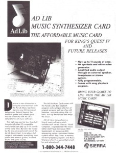 The first few sound cards for computers were ridiculously expensive until the Adlib came along. The Adlib didn't sound great, but in comparison with the PC Speaker, well, it was /fantastic./