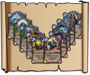 As with any big set, Blizzard are releasing class legendaries.  This picture is a collected view of all of them.