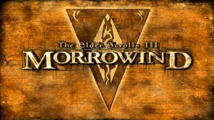 The Morrowind logo. A logo that seems to send shivers up and down various people's spines.