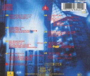 The back cover, by turns, is spartan.  Song names.  moody towering building.  It's kind of a let down.