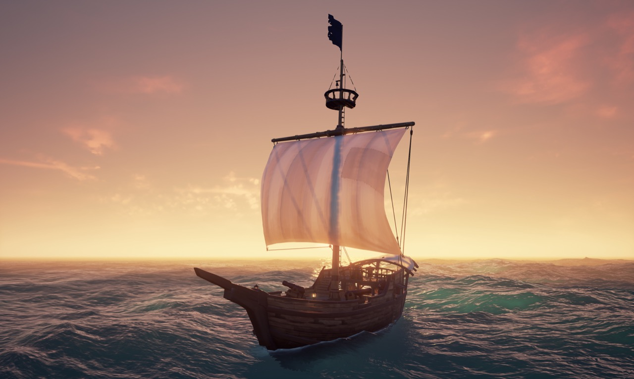Sea of Thieves presenting a boat in a
