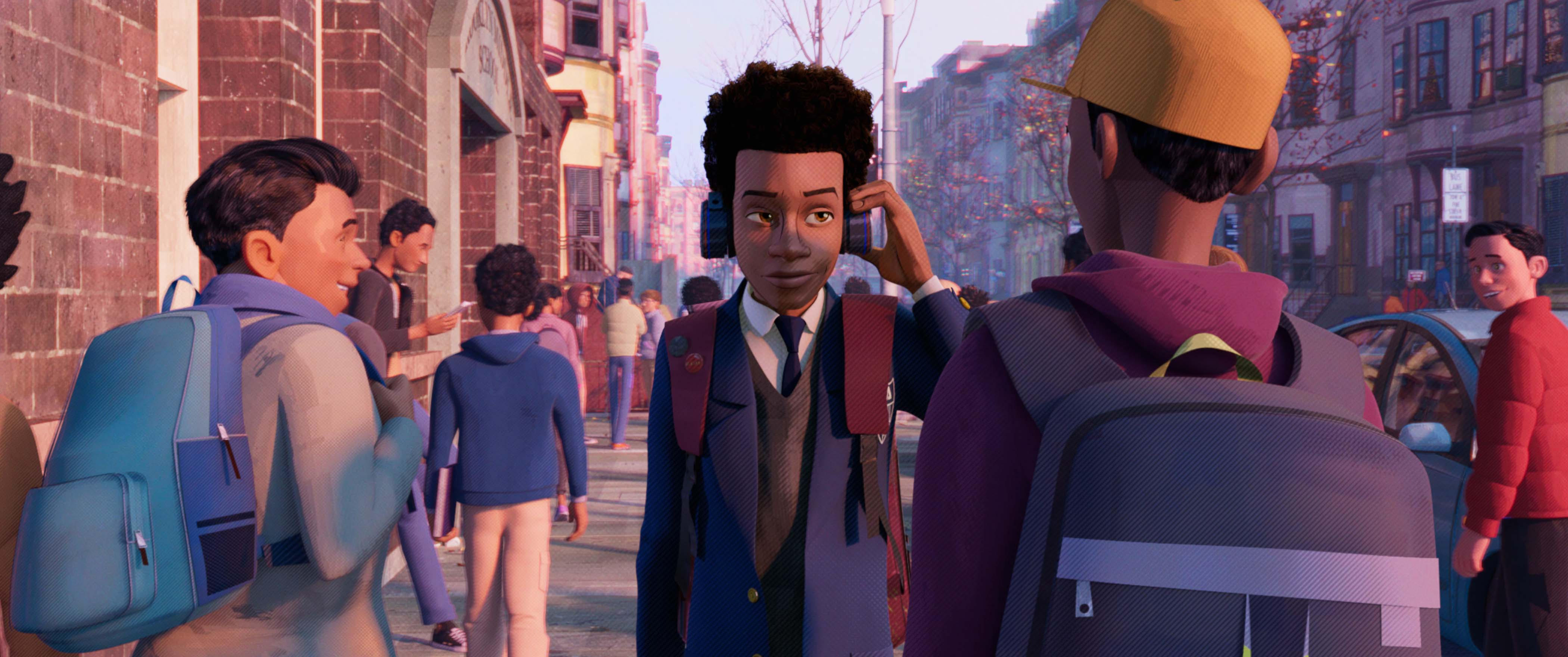 Miles Morales (Shameik Moore) in Columbia Pictures and Sony Pictures Animations' SPIDER-MAN: INTO THE SPIDER-VERSE.
