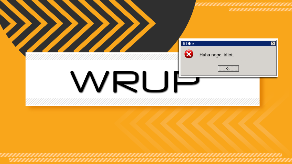 WRUP_error code