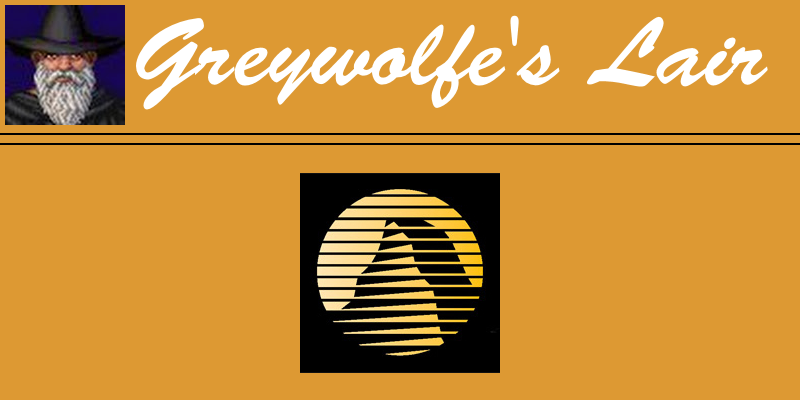 Greywolfe's Year of Sierra Banner image. It contains a stylized image of Greywolfe's Avatar, the text